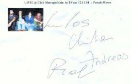 Petsch Moser Autogramm - LIVE at Club Metropolitain !
