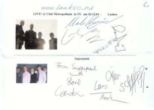 Superpunk + Laakso Autogramm - LIVE at Club Metropolitain !