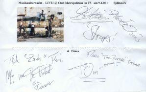 Splitscore  + Timea Autogramm - LIVE at Club Metropolitain !