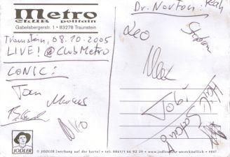 Conic + Dr. Norton  Autogramm -  LIVE at Club Metropolitain !