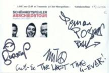 · Schönheitsfehler Autogramm - Live at Club Metropolitain - gruss  C. ! ·